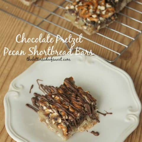 Chocolate Pretzel Pecan Shortbread Bars