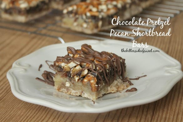 Pecan Shortbread With Chocolate Drizzle Recipe — Dishmaps
