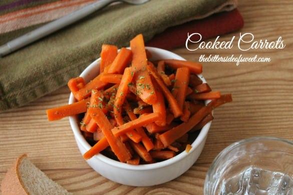 Cooked Carrots | thebittersideofsweet.com