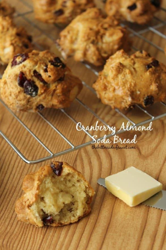 Cranberry Almond Soda Bread | thebittersidefosweet.com #luckoftheirishweek