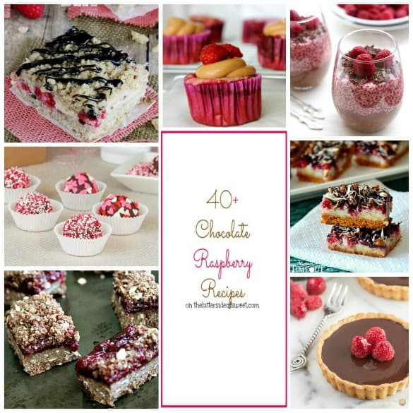 40+ Chocolate Raspberry Recipes | thebittersideofsweet.com