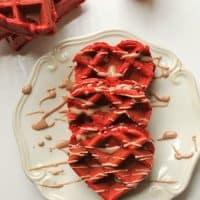 Red Velvet Cake Mix Waffles