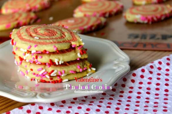 Valentine's Pinwheel Cookies 3Valentine's Pinwheel Cookies | thebittersideofsweet.com