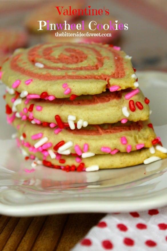Valentine's Pinwheel Cookies | thebittersideofsweet.com