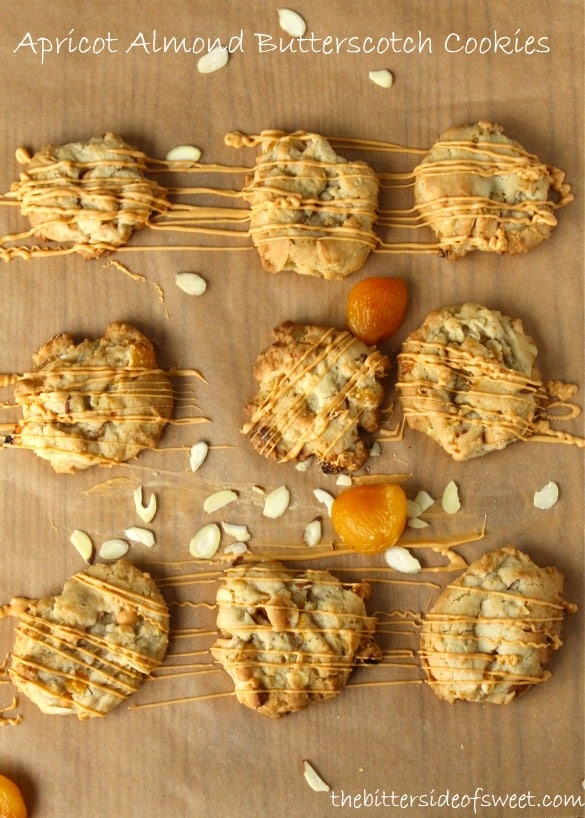 Apricot Almond Butterscotch Cookies 1