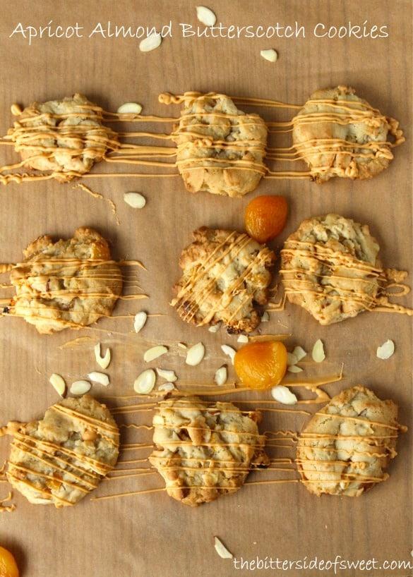 Apricot Almond Butterscotch Cookies | thebittersideofsweet.com