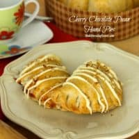 Cherry Chocolate Pecan Hand Pies #piday