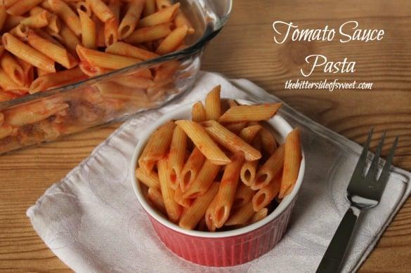 Tomato Sauce Pasta | thebittersideofsweet.com