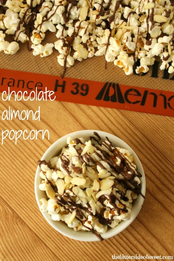 Chocolate Almond Popcorn will definitely hit that sweet tooth for you!