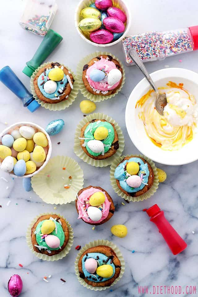Easter-Cookie-Cups-Frosting-Diethood