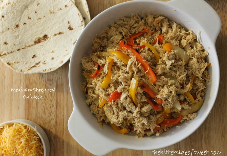 Mexican Shredded Chicken | thebittersideofsweet.com #mexican #chicken #dinner