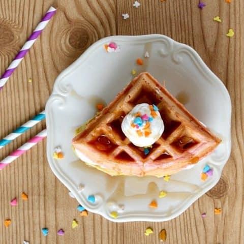Spring Velvet Waffles
