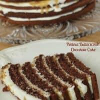 Walnut Butterscotch Chocolate Cake