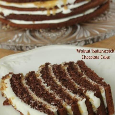 Walnut Butterscotch Chocolate Cake