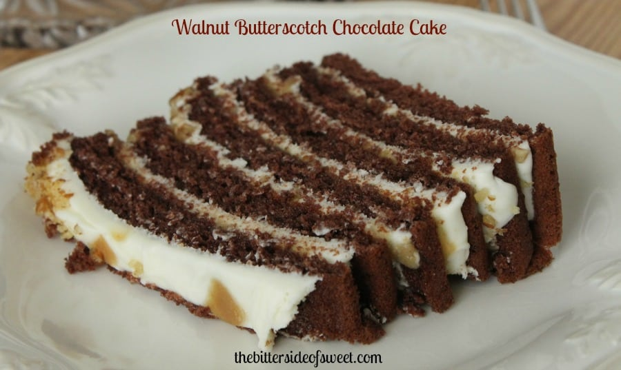 Walnut Butterscotch Chocolate Cake | thebittersideofsweet.com #cake #chocolate #dessert