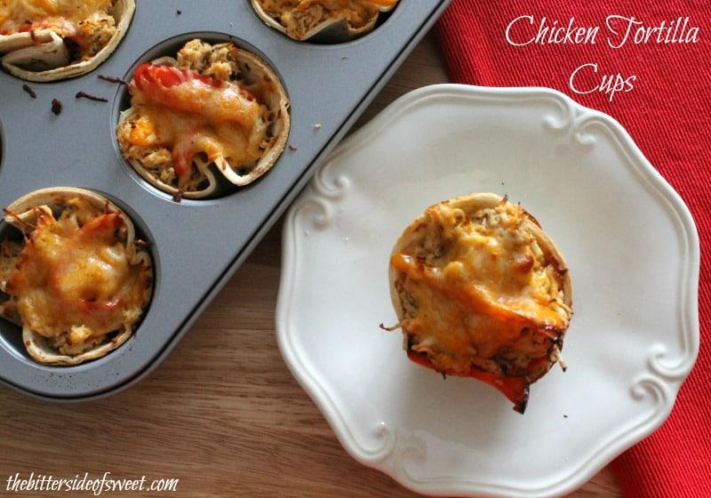 Chicken Tortilla Cups  | thebittersideofsweet.com