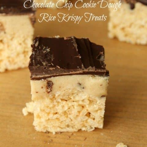 Chocolate Chip Cookie Dough Rice Krispy Treats