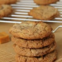 Chocolate Hazelnut Caramel Cookies