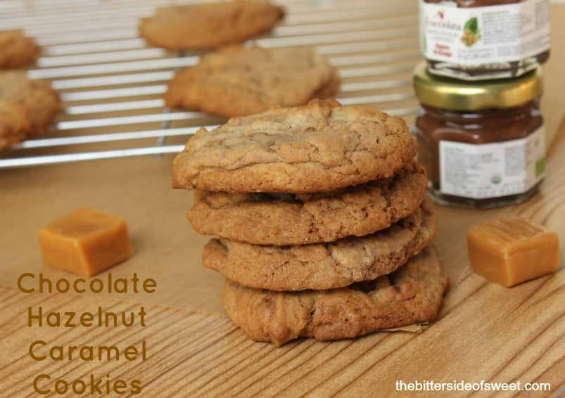 Chocolate Hazelnut Caramel Cookies | thebittersideofsweet.com