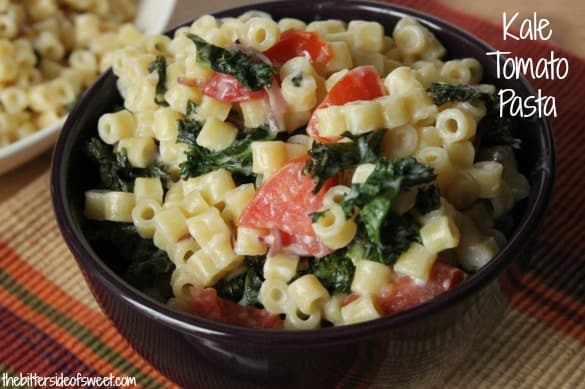 Kale Tomato Pasta | thebittersideofsweet.com