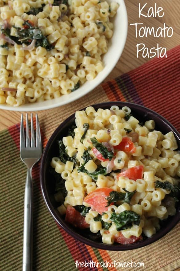 Spaghetti With Kale And Tomato Sauce Recipe — Dishmaps