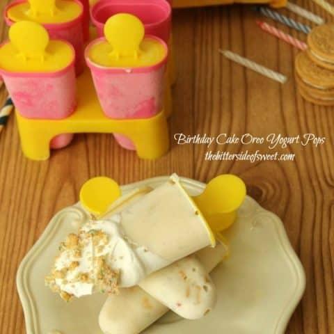 Birthday Cake Oreo Yogurt Pops