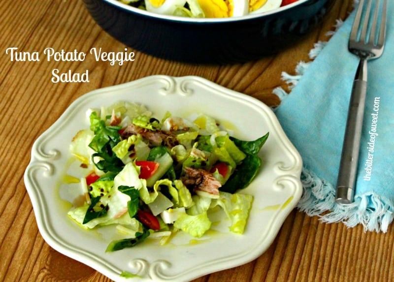 Tuna Potato Veggie Salad | thebittersideofsweet.com