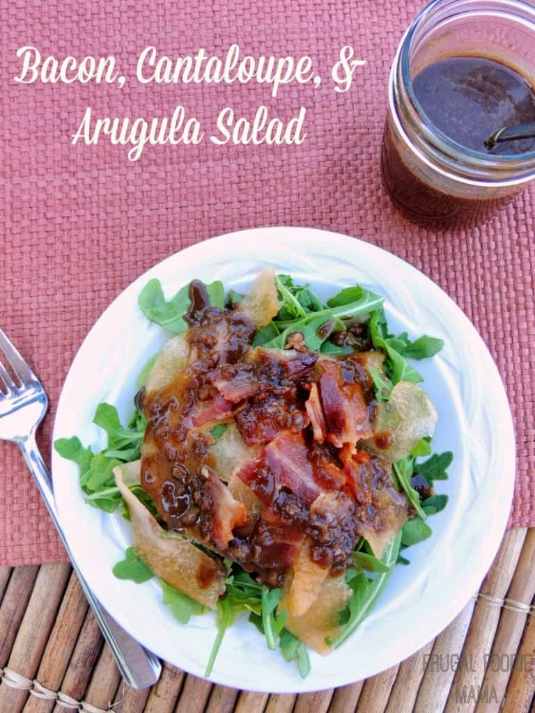 BaconCantaloupeArugulaSaladTitled
