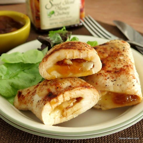 Chicken-Roulade-Stuffed-with-Mango-Chutney-Brie
