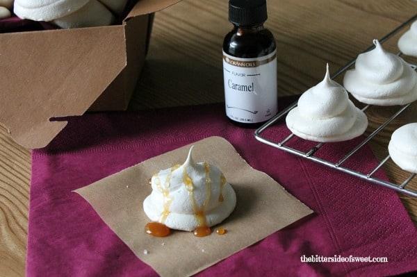 Salted Caramel Meringue Cookies | thebittersideofsweet.com