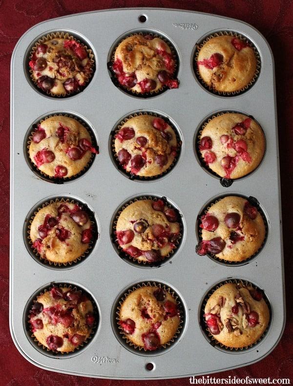 Cranberry Pecan Muffins | thebittersideofsweet.com