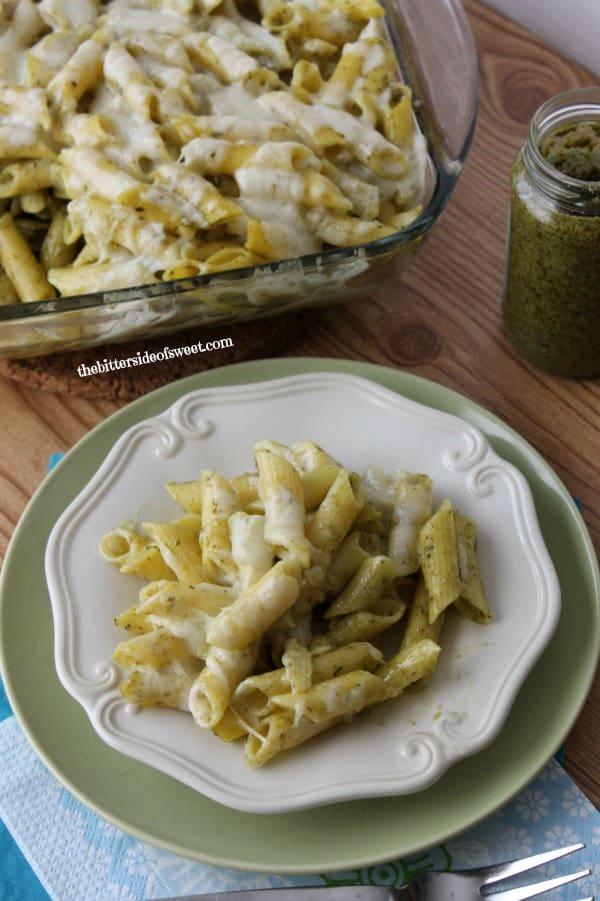 Gluten Free Pesto Pasta Bake | thebittersideofsweet.com