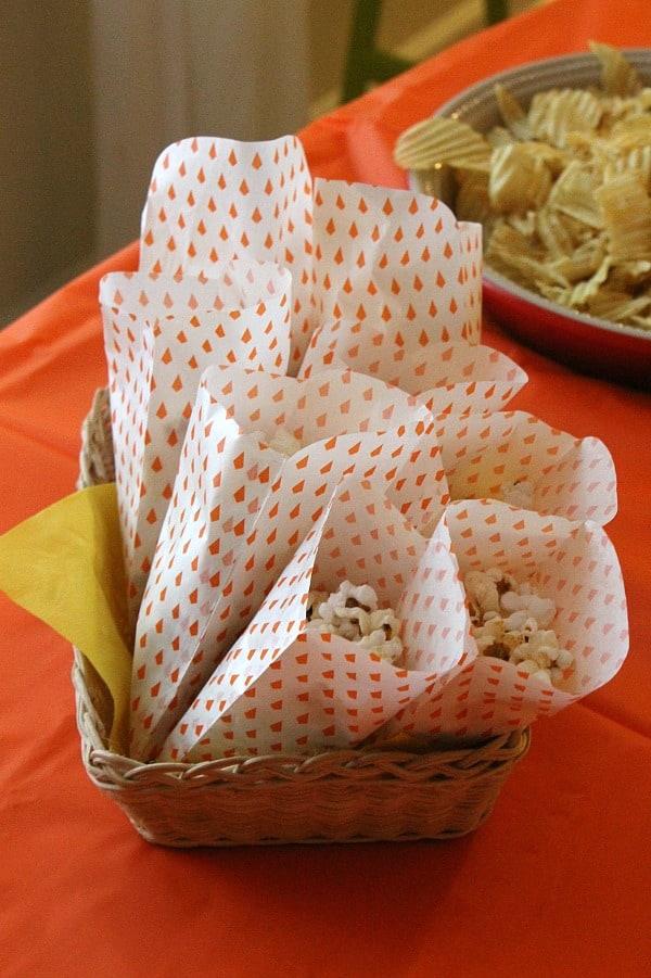Candy Corn Popcorn Bags