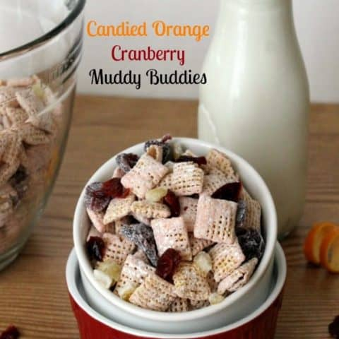 Candied Orange Cranbery Muddy Buddies