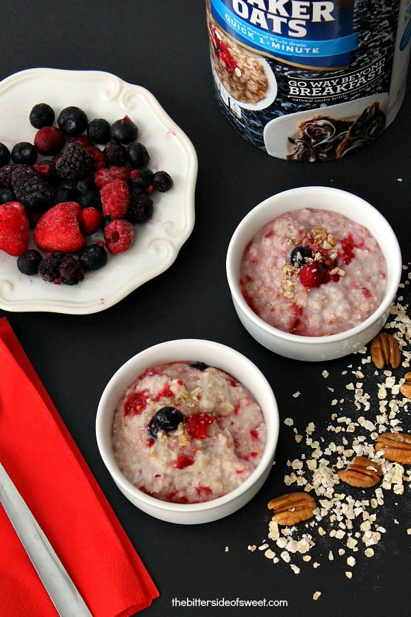 Berry Pecan Oatmeal - The Bitter Side of Sweet #MyOatsCreation#CollectiveBias #spon
