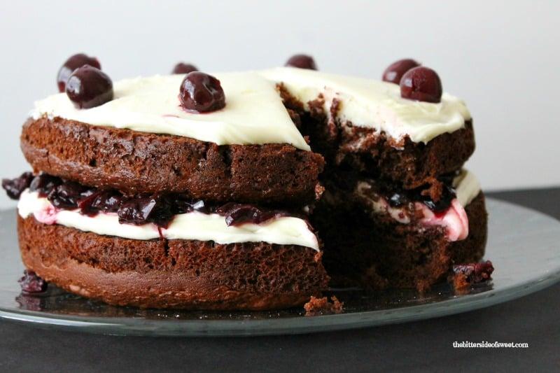 Black Cherry Chocolate Cake - The Bitter Side of Sweet