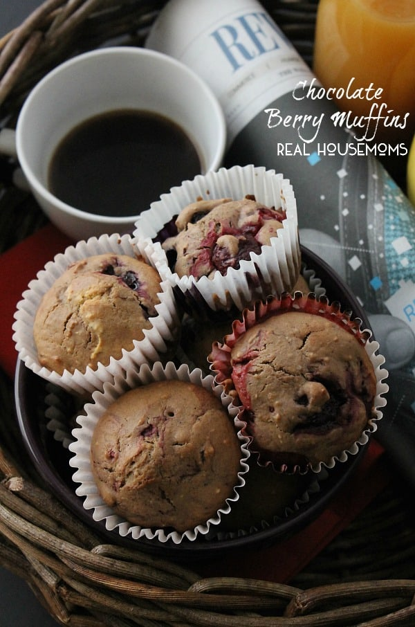 Chocolate Berry Muffins HERO