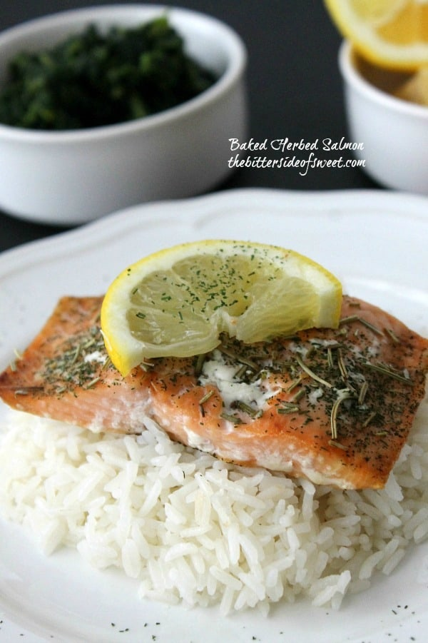 Baked Herbed Salmon 1