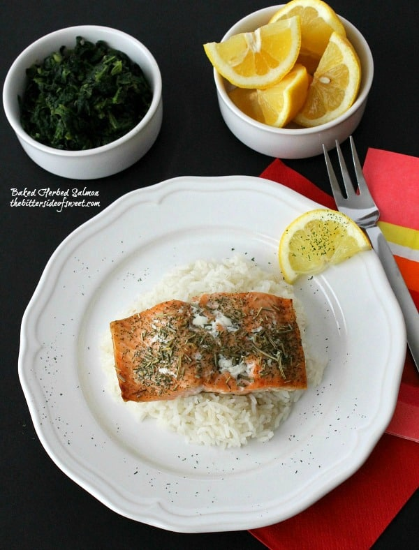 Baked Herbed Salmon - The Bitter Side of Sweet