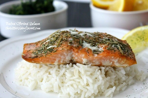 Baked Herbed Salmon -