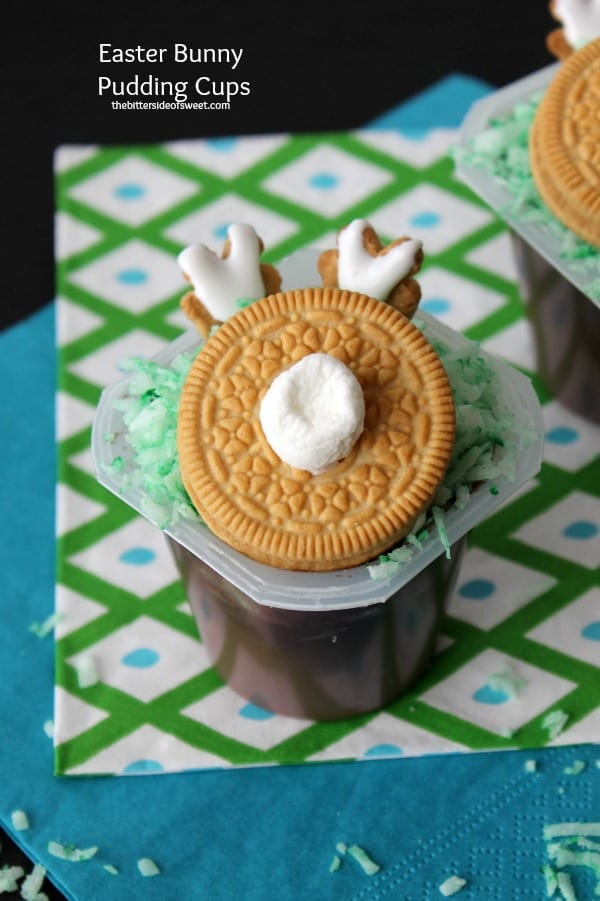 Easter Bunny Pudding Cups 2