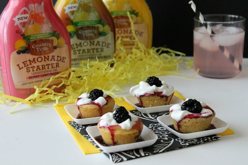 Blackberry Lemon Cookie Cups - The Bitter Side of Sweet ##PourMoreFun #ad
