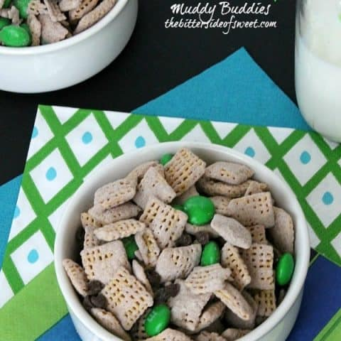 Mint Chocolate Chip Muddy Buddies