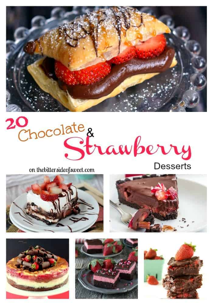 20 Chocolate and Strawberry Desserts