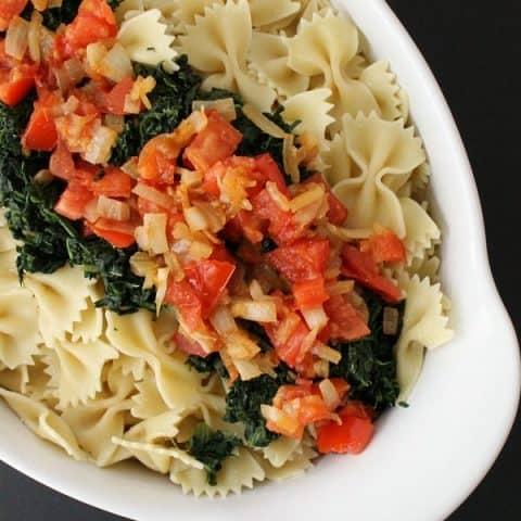 Spinach Tomato Bow Tie Pasta