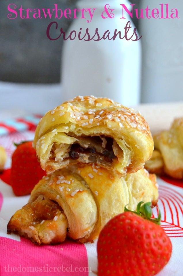 StrawberryNutellaCroissants