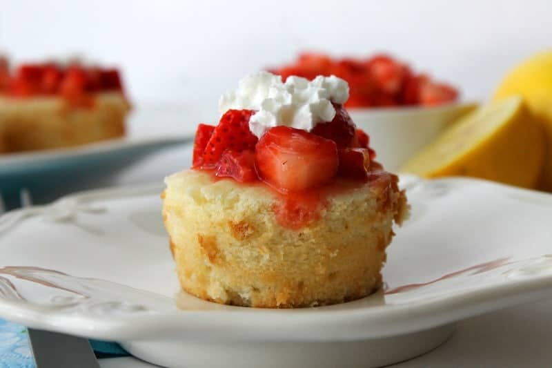 Lemon Pound Cake Cups with Strawberries 3