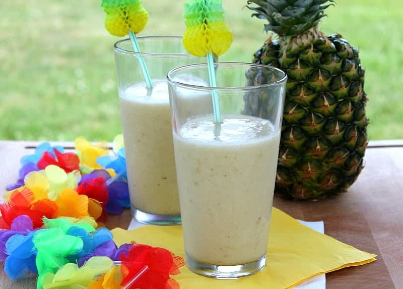 Coconut Pineapple Banana Smoothie - The Bitter Side of Sweet