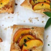 Mint Peach Tarts