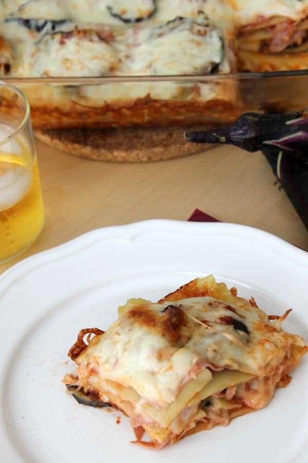 Ham Eggplant Lasagna - The Bitter Side of Sweet #LifesBetterWithTheLion